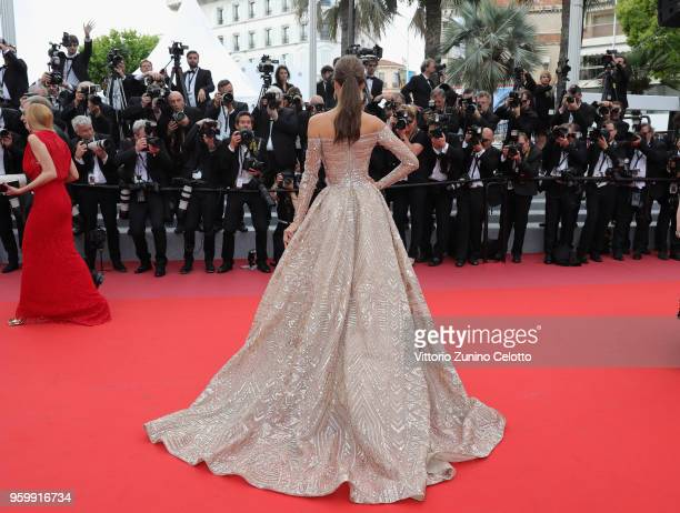 Alessandra Ambrosio attends the screening of 'The Wild Pear Tree ' during the 71st annual Cannes Film Festival at Palais des Festivals on May 18 2018...