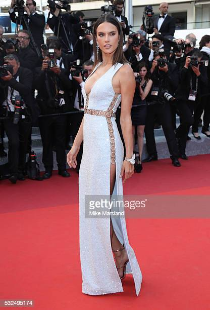 Alessandra Ambrosio attends the 'The Unkown Girl ' premiere during the 69th annual Cannes Film Festival at the Palais des Festivals on May 18 2016 in...