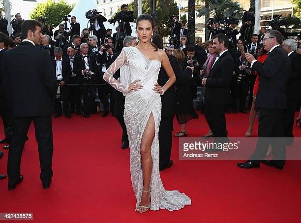Alessandra Ambrosio attends the 'Two Days One Night' premiere during the 67th Annual Cannes Film Festival on May 20 2014 in Cannes France