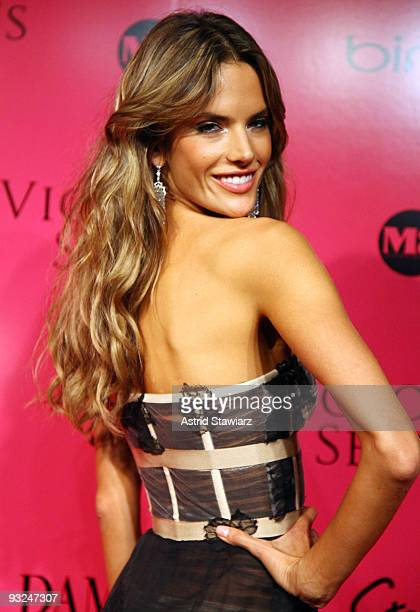 Alessandra Ambrosio attends the Victoria's Secret fashion show after party at M2 Ultra Lounge on November 19 2009 in New York City