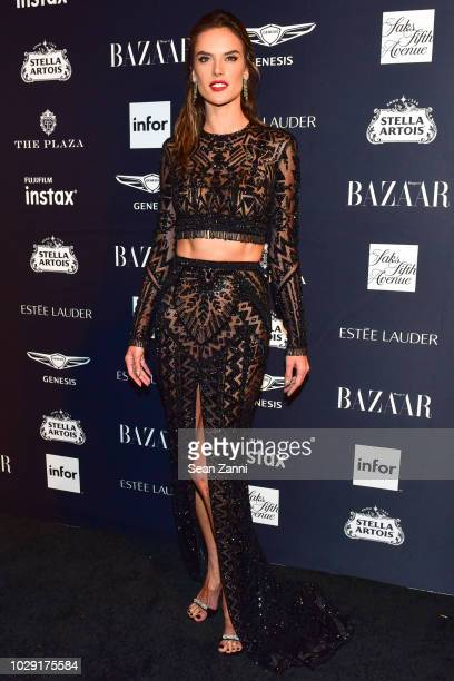 Alessandra Ambrosio attends The Worldwide Editors Of Harper's Bazaar Celebrate ICONS by Carine Roitfeld presented by Infor Stella Artois FUJIFILM...