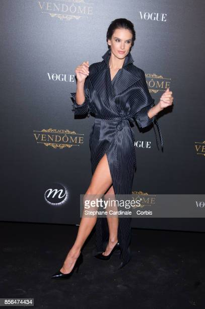 Alessandra Ambrosio attends Vogue Party as part of the Paris Fashion Week Womenswear Spring/Summer 2018 at on October 1 2017 in Paris France