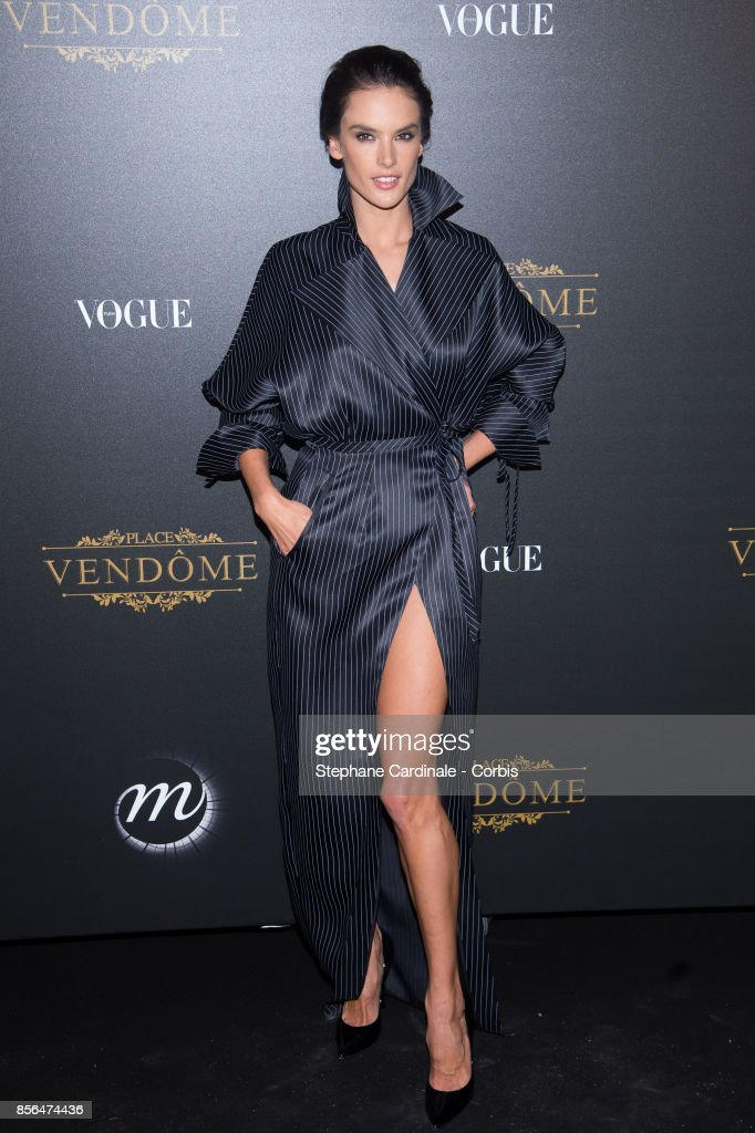 Alessandra Ambrosio attends Vogue Party as part of the Paris Fashion Week Womenswear Spring/Summer 2018 at on October 1, 2017 in Paris, France.