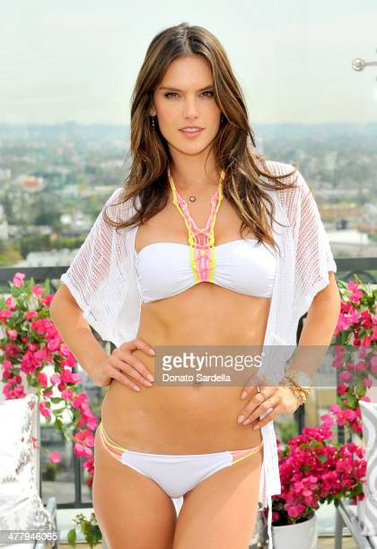 Alessandra Ambrosio celebrates The 2014 Victoria's Secret Swim Collection at The London West Hollywood on March 11 2014 in West Hollywood California