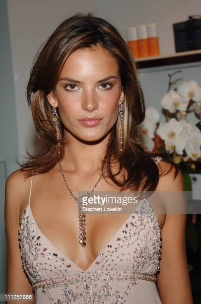 Alessandra Ambrosio during Helena Christensen Co-Hosts Frederic Fekkai Salon and Spa Opening Party at Henri Bendel in New York - Inside at Frederic...