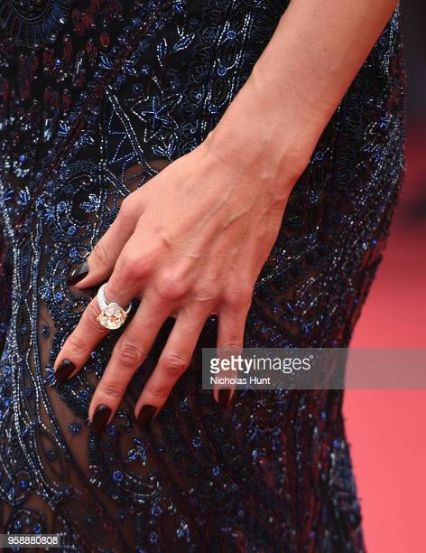 """Alessandra Ambrosio, fashion detail, attends the screening of """"Solo: A Star Wars Story"""" during the 71st annual Cannes Film Festival at Palais des..."""