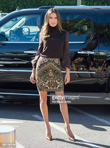 Alessandra Ambrosio is seen at 'Extra' on December 08 2014 in Los Angeles California