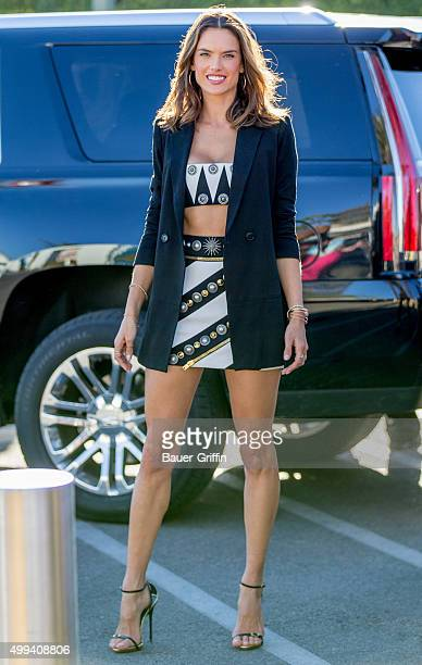 Alessandra Ambrosio is seen at 'Extra' on November 30 2015 in Los Angeles California