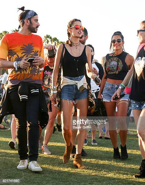 Alessandra Ambrosio is seen at The Coachella Valley Music and Arts Festival on April 16 2016 in Los Angeles California