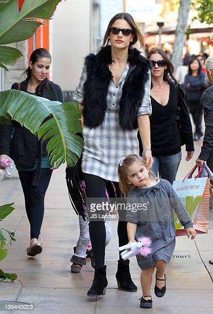 Alessandra Ambrosio is seen at The Grove on December 9 2011 in Los Angeles California