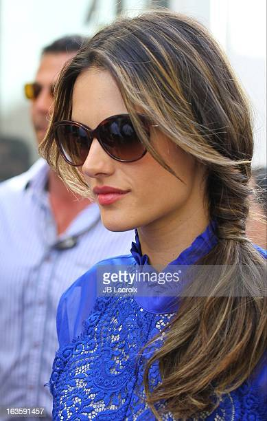 Alessandra Ambrosio is seen at The Grove on March 12 2013 in Los Angeles California