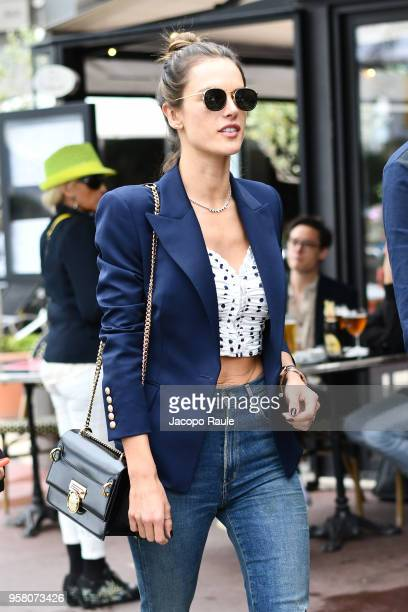 Alessandra Ambrosio is seen during the 71st annual Cannes Film Festival at on May 13 2018 in Cannes France