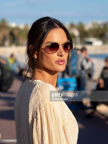 Alessandra Ambrosio is seen during the 72nd annual Cannes Film Festival on May 15 2019 in Cannes France