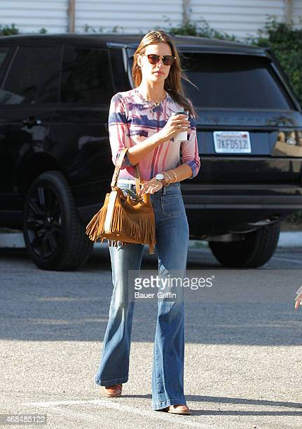 Alessandra Ambrosio is seen in Los Angeles on April 02 2015 in Los Angeles California