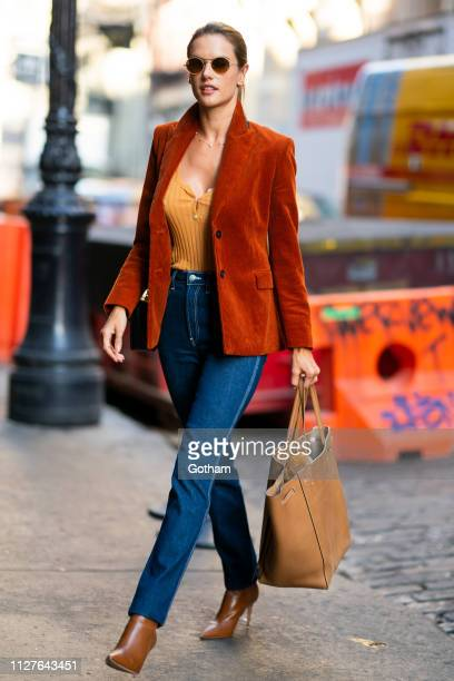 Alessandra Ambrosio is seen in SoHo on February 05, 2019 in New York City.