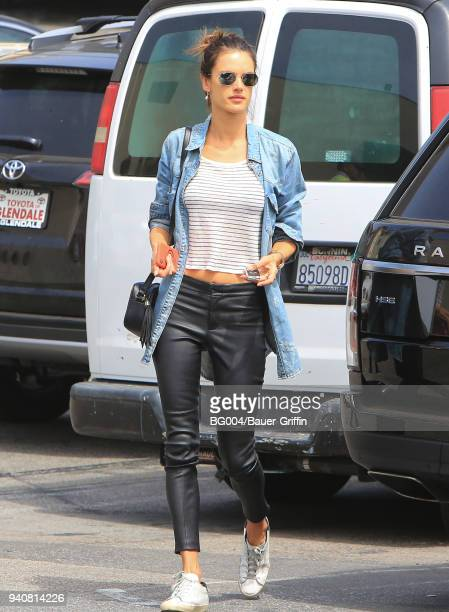Alessandra Ambrosio is seen on April 01 2018 in Los Angeles California