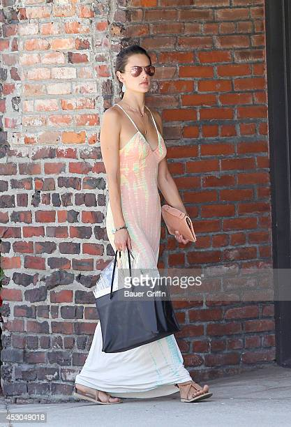 Alessandra Ambrosio is seen on August 01 2014 in Los Angeles California