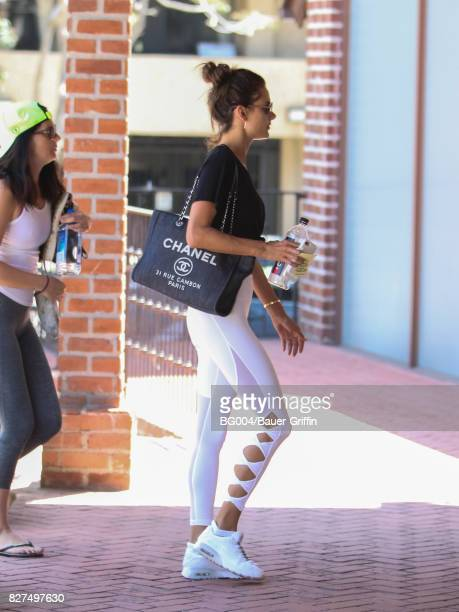 Alessandra Ambrosio is seen on August 07 2017 in Los Angeles California