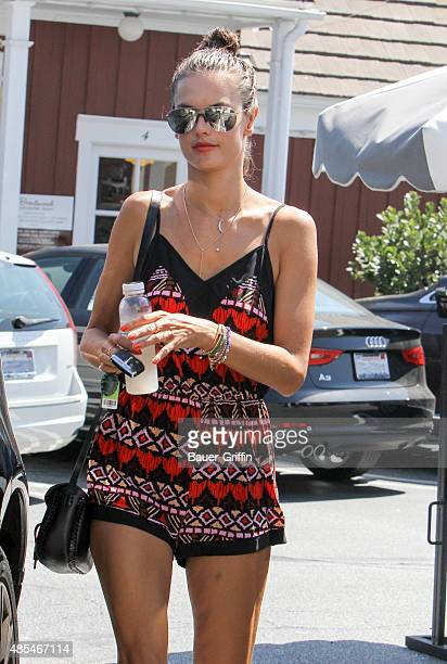 Alessandra Ambrosio is seen on August 27 2015 in Los Angeles California