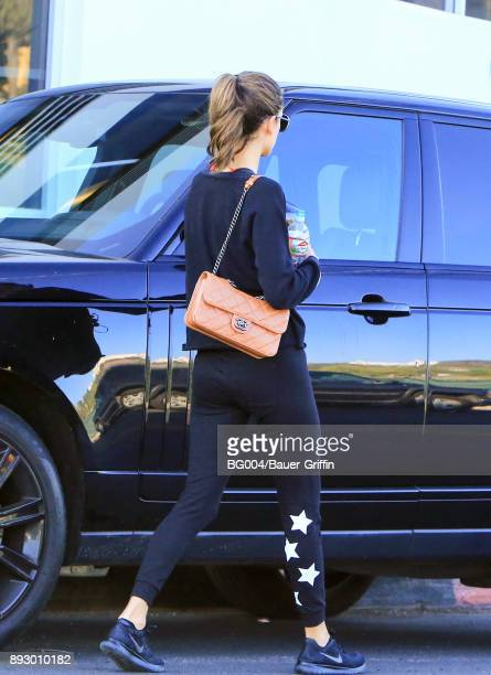 Alessandra Ambrosio is seen on December 14 2017 in Los Angeles California