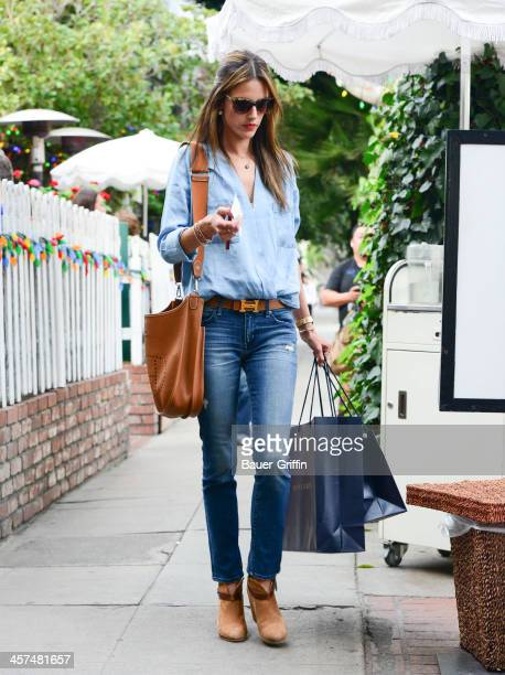 Alessandra Ambrosio is seen on December 17 2013 in Los Angeles California