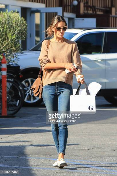Alessandra Ambrosio is seen on February 01 2018 in Los Angeles California