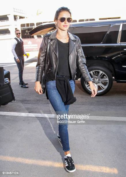Alessandra Ambrosio is seen on February 02 2018 in Los Angeles California