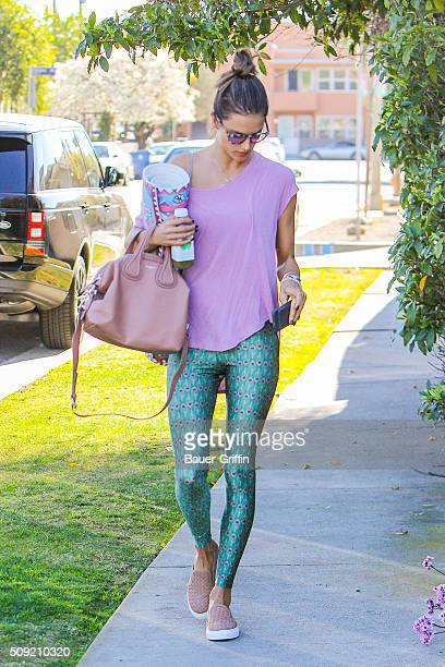 Alessandra Ambrosio is seen on February 09 2016 in Los Angeles California