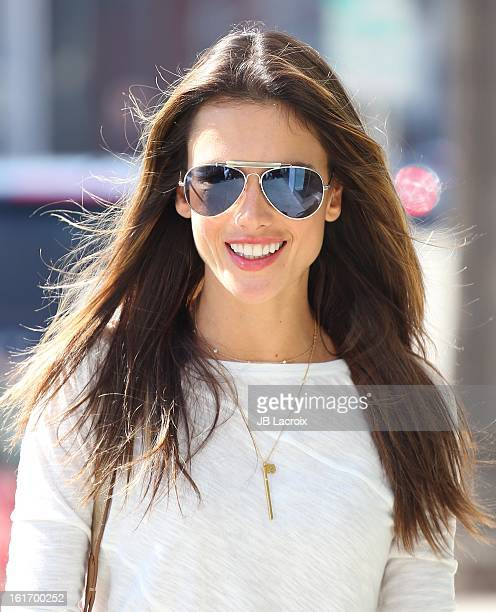 Alessandra Ambrosio is seen on February 14 2013 in Los Angeles California