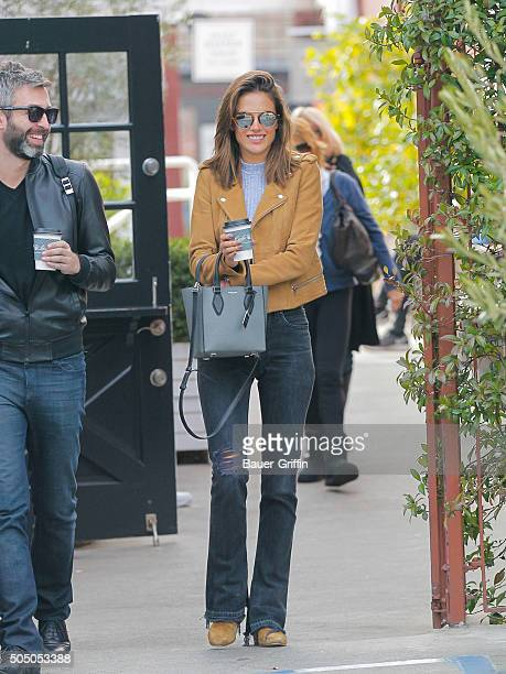 Alessandra Ambrosio is seen on January 14 2016 in Los Angeles California