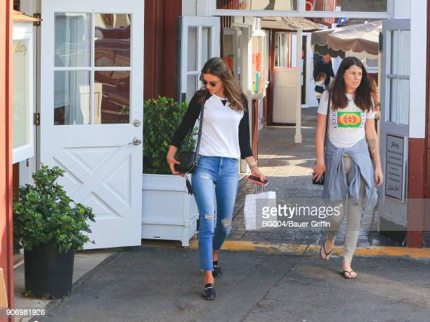 Alessandra Ambrosio is seen on January 18 2018 in Los Angeles California