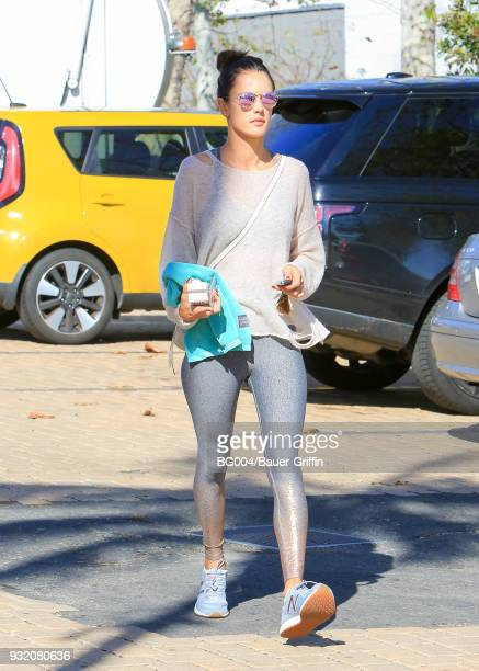 Alessandra Ambrosio is seen on March 14 2018 in Los Angeles California