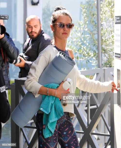 Alessandra Ambrosio is seen on March 17 2018 in Los Angeles California