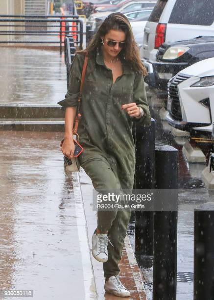 Alessandra Ambrosio is seen on March 21 2018 in Los Angeles California