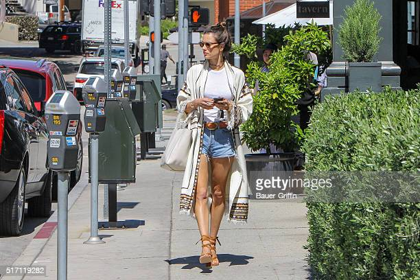 Alessandra Ambrosio is seen on March 23 2016 in Los Angeles California