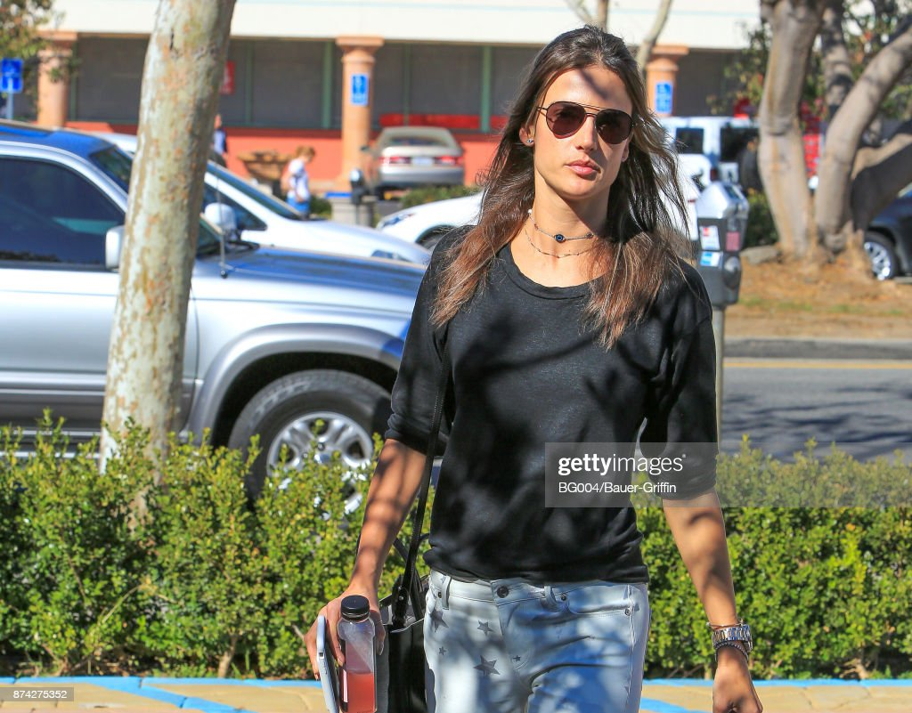 Alessandra Ambrosio is seen on November 14, 2017 in Los Angeles, California.