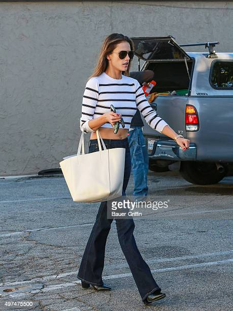 Alessandra Ambrosio is seen on November 16 2015 in Los Angeles California