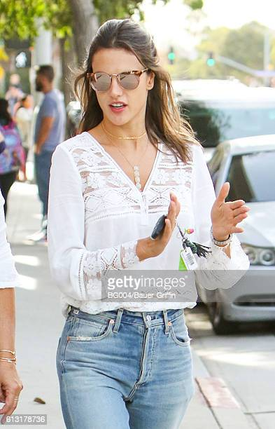 Alessandra Ambrosio is seen on October 07 2016 in Los Angeles California