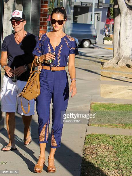 Alessandra Ambrosio is seen on October 09 2015 in Los Angeles California