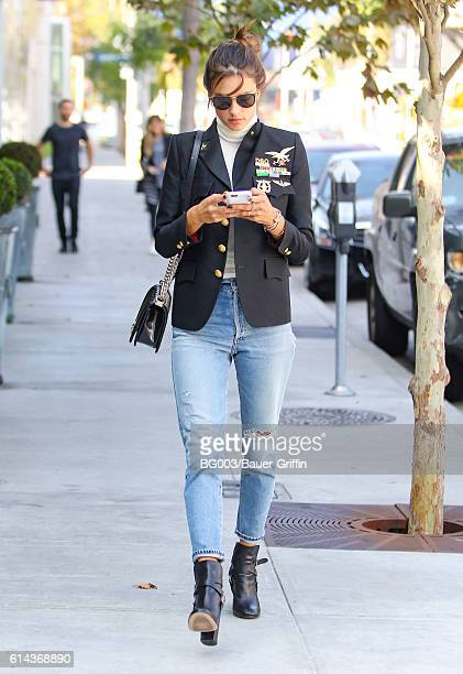 Alessandra Ambrosio is seen on October 13 2016 in Los Angeles California