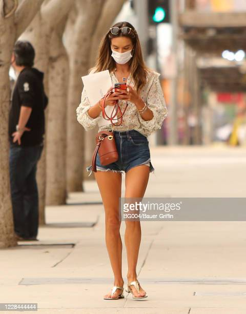 Alessandra Ambrosio is seen on September 10 2020 in Los Angeles California