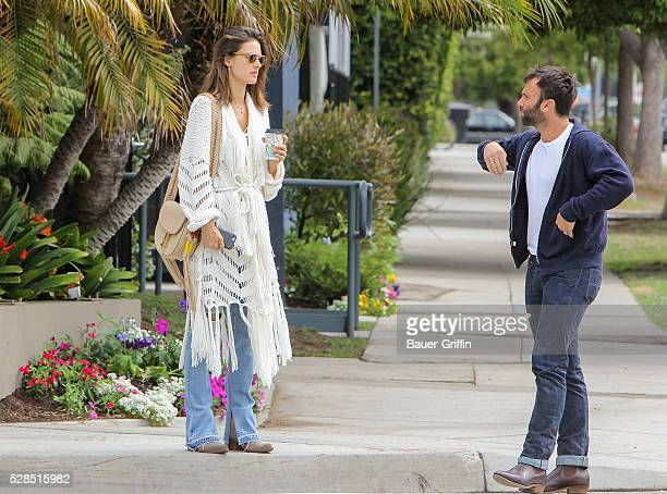 Alessandra Ambrosio is seen with her husband Jamie Mazur on May 05 2016 in Los Angeles California