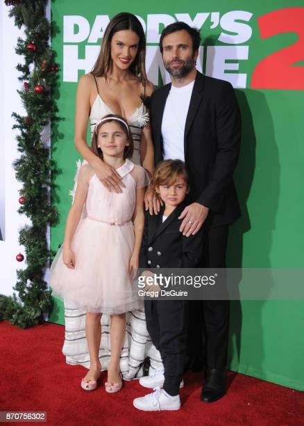 Alessandra Ambrosio Jamie Mazur Anja Louise Ambrosio Mazur and Noah Phoenix Ambrosio Mazur arrive at the premiere of Paramount Pictures' Daddy's Home...