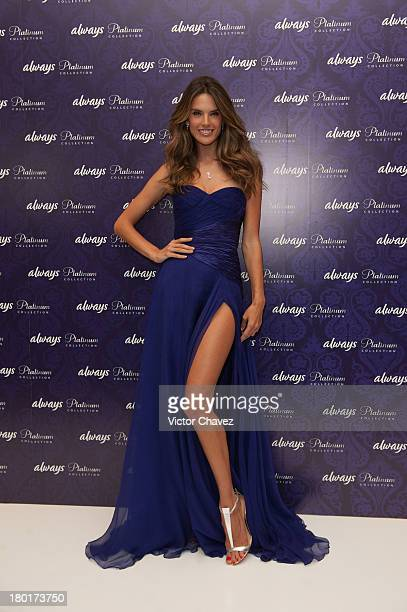 Alessandra Ambrosio launches Always Platinum Collection at St Regis Hotel on September 5 2013 in Mexico City Mexico