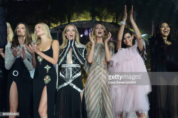 Alessandra Ambrosio Natasha Poly Hannah Ferguson Megan Williams Georgia Fowler and Danielle Herrington attend the amfAR Gala Cannes 2018 at Hotel du...