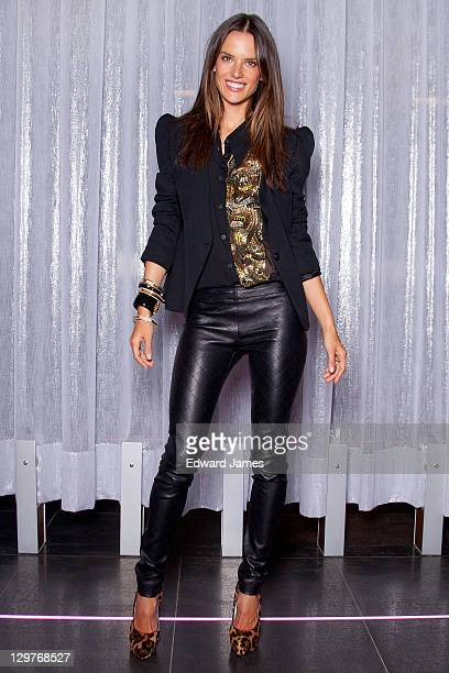 f9768e6f79 Alessandra Ambrosio poses at Victoria s Secret Holiday 2011 Collection  Launch on October 20 2011 in Toronto