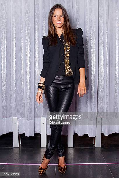 c2a88933db553 Alessandra Ambrosio poses at Victoria s Secret Holiday 2011 Collection  Launch on October 20 2011 in Toronto