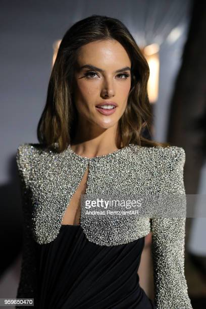 Alessandra Ambrosio poses backstage at the amfAR Gala Cannes 2018 at Hotel du CapEdenRoc on May 17 2018 in Cap d'Antibes France