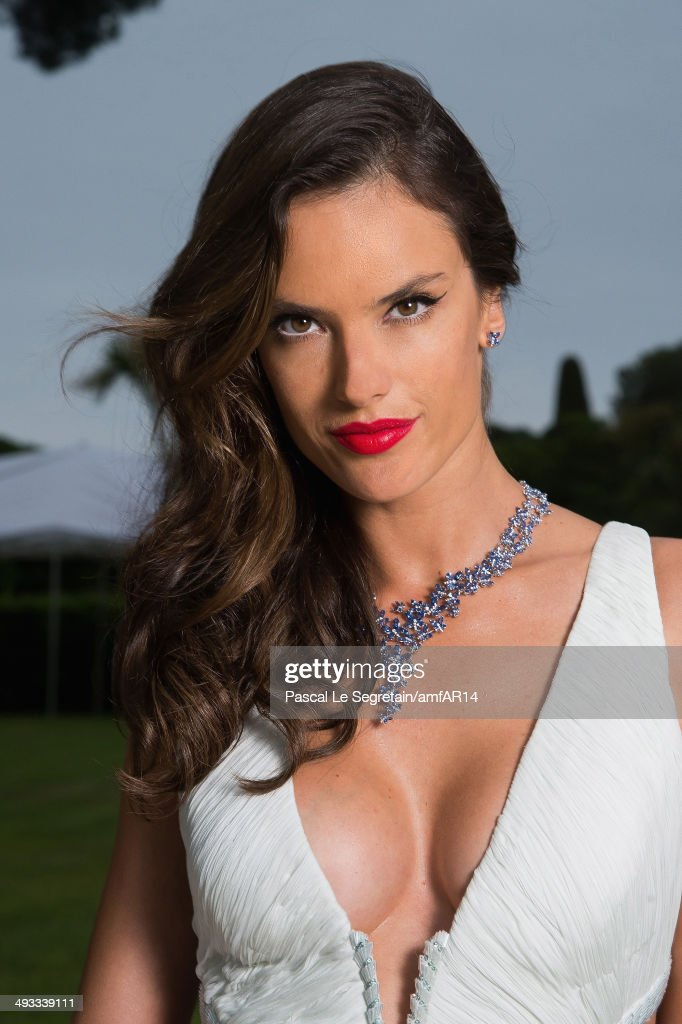 Alessandra Ambrosio poses for a portrait at amfAR's 21st Cinema Against AIDS Gala Presented By WORLDVIEW, BOLD FILMS, And BVLGARI at Hotel du Cap-Eden-Roc on May 22, 2014 in Cap d'Antibes, France.