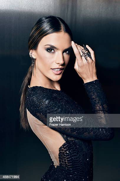 Alessandra Ambrosio poses for a portrait at the amfAR LA Inspiration Gala on October 29 2014 in Los Angeles California